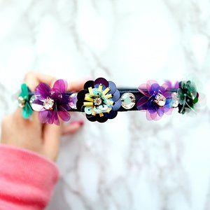 J Crew 3D Colorful Flower Headband